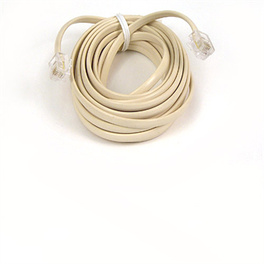Phone Line Cord The Belkin PRO Series Phone Line Cable is the perfect length cable to connect your (corded or cordless) wall mount phones to the wall jack  or to connect fax or answering machines in close proximity.  Available in Clear.