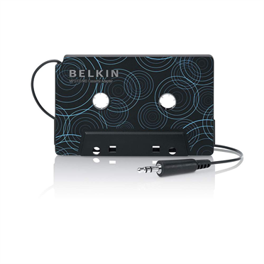 Cassette Adapter for MP3 Players The Mobile Cassette Adapter from Belkin easily connects your portable MP3  CD  cassette player  PC  or laptop to your car stereo  through your car's in-dash cassette player.