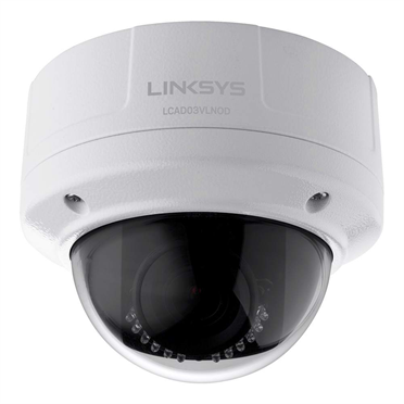 Linksys Outdoor Dome Camera 1080p 3MP Night Vision LCAD03VLNOD for Business -$ FrontViewImage