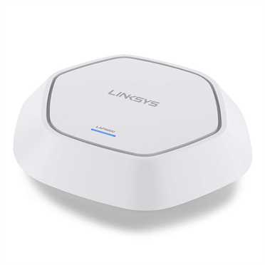 Linksys LAPN600 Business Access Point Wireless Wi-Fi Dual Band 2.4 + 5GHz N600 with PoE -$ SideView1Image