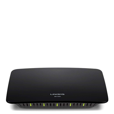 Linksys SE1500 5-Port Fast Ethernet Switch Learn how the SE1500 switch can add up to five devices to your home network at Fast Ethernet speeds of up to 100 Mbps.