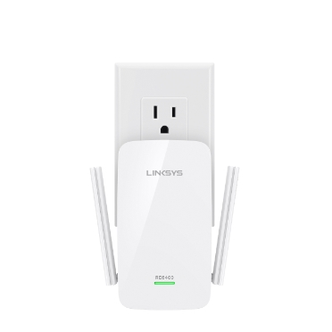 Linksys RE6400 AC1200 BOOST EX Wi-Fi Range Extender -$ FrontViewImage