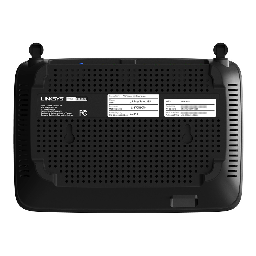 Linksys MAX-STREAM Mesh WiFi 5 Router (MR6350) -$ SideView1Image
