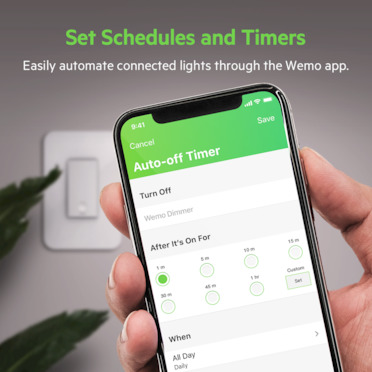 Wemo WiFi Smart Dimmer 2-Pack -$ SideView1Image