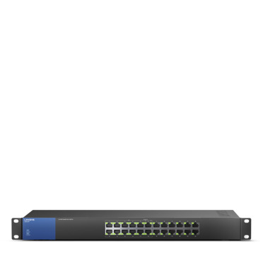 Switch PoE+ 24 ports Gigabit Linksys Business LGS124P à monter sur rack -$ FrontViewImage