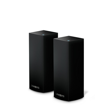 Linksys Velop Intelligent Mesh WiFi System, Tri-Band, 2-Pack Black (AC4400) -$ HeroImage
