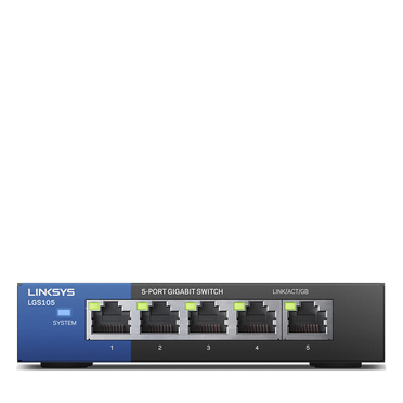 Linksys LGS105 5-Port Business Desktop Gigabit Switch -$ HeroImage
