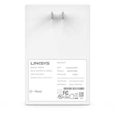 Linksys Velop Expander für das grenzenlose Intelligent Mesh-WLAN-System -$ BackViewImage