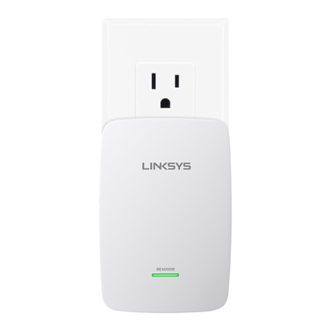 Linksys RE4000W N600 Dual-Band Wireless Range Extender -$ FrontViewImage