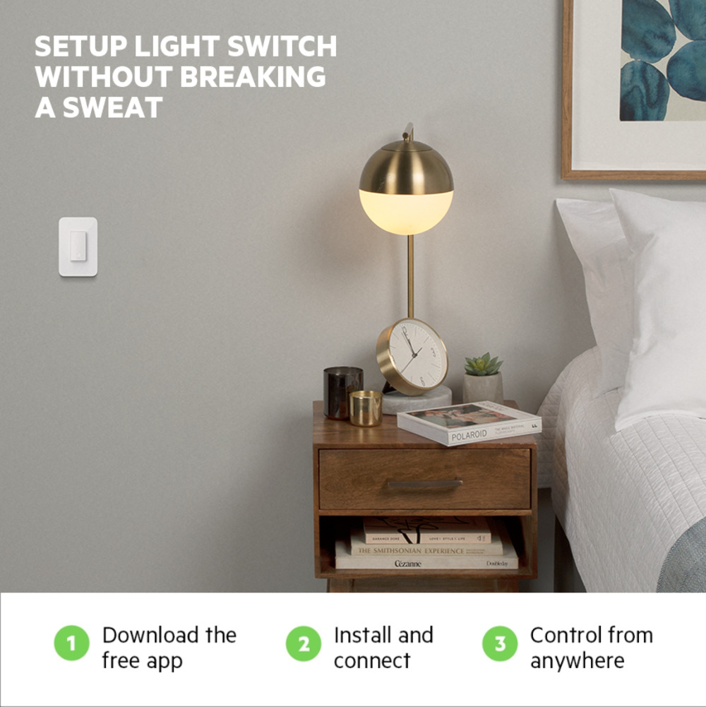 Wemo Smart Light Switch 3-Way 2-Pack -$ SideView1Image
