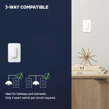 Wemo Smart Light Switch 3-Way 2-Pack -$ FrontViewImage