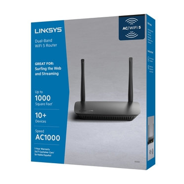 Linksys WiFi 5 Router Dual-Band (AC1000) -$ FrontViewImage