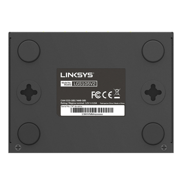 Linksys LGS105 5-Port Business Desktop Gigabit Switch -$ SideView1Image