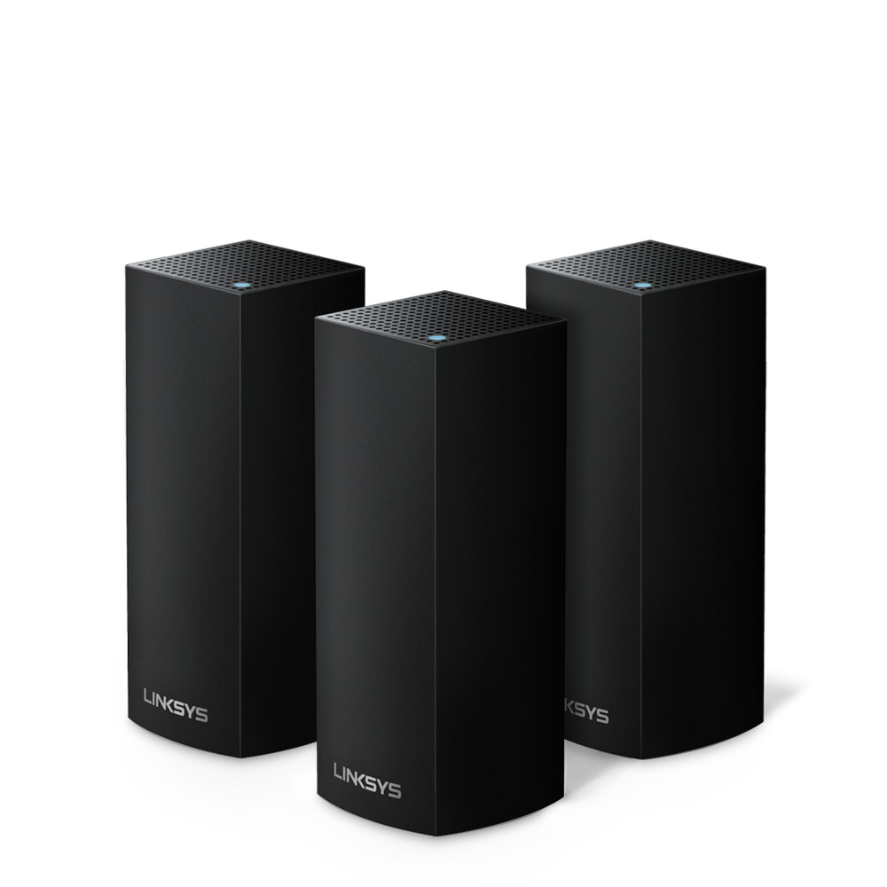 Linksys Velop Intelligent Mesh WiFi System, Tri-Band, 3-Pack Black (AC6600) -$ HeroImage