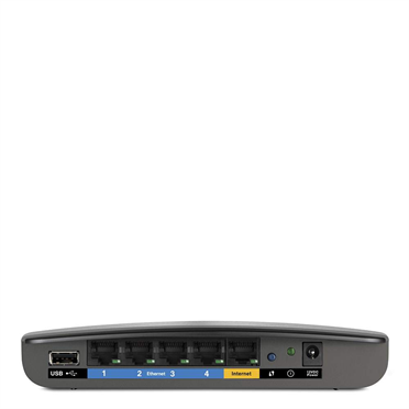Router inalámbrico de doble banda N600 Linksys E2500 -$ SideView1Image