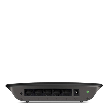 Linksys SE1500 5-Port Fast Ethernet Switch -$ SideView1Image