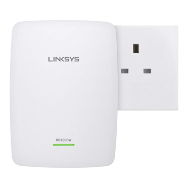 Linksys RE3000W N300 Wireless Range Extender -$ FrontViewImage