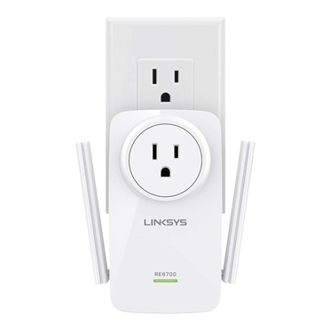 Linksys RE6700 AC1200 AMPLIFY Dual-Band Wi-Fi Range Extender -$ FrontViewImage