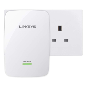Extensor de alcance inalámbrico de doble banda N600 Linksys RE4100W -$ FrontViewImage