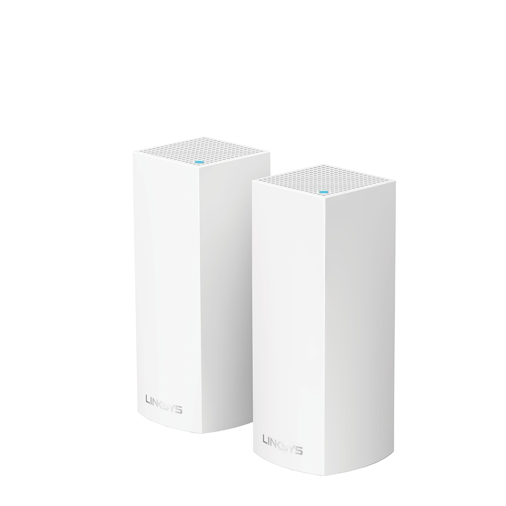 Linksys Velop Intelligent Mesh WiFi System, Tri-Band, 2-Pack White (AC4400) -$ HeroImage