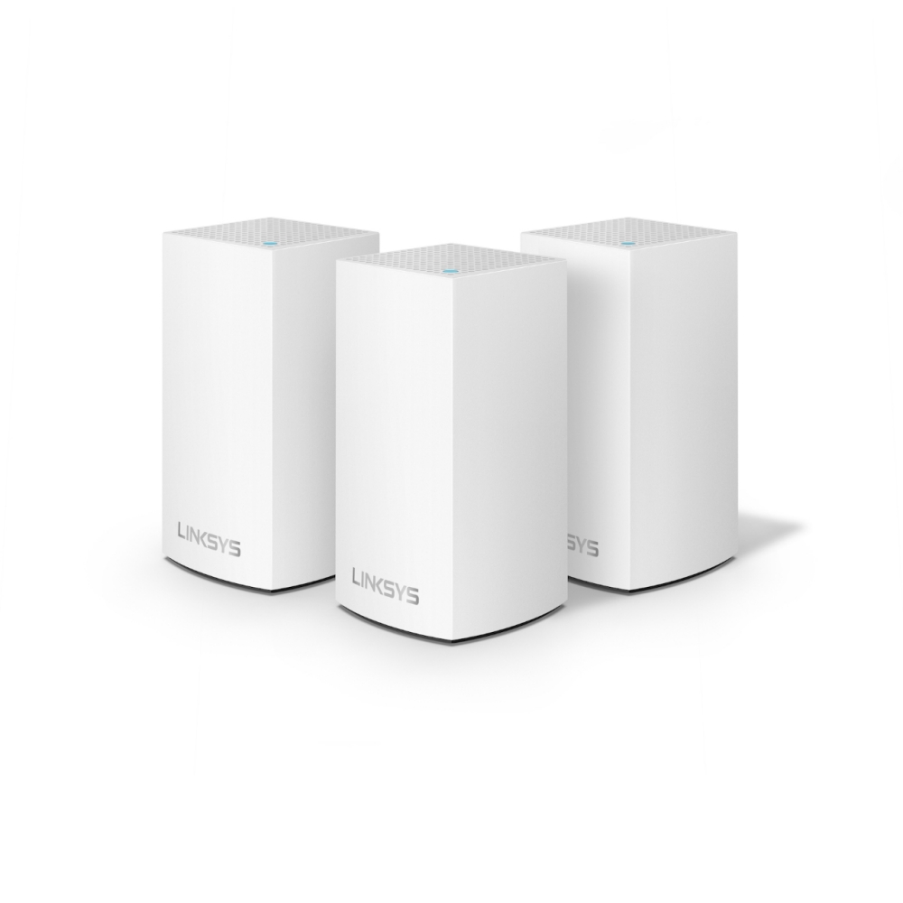 Linksys Velop Intelligent Mesh WiFi System, 3-Pack White (AC3900) -$ HeroImage