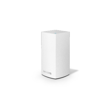 Linksys Velop Intelligent Mesh WiFi System, 1-Pack White (AC1300) -$ SideView1Image