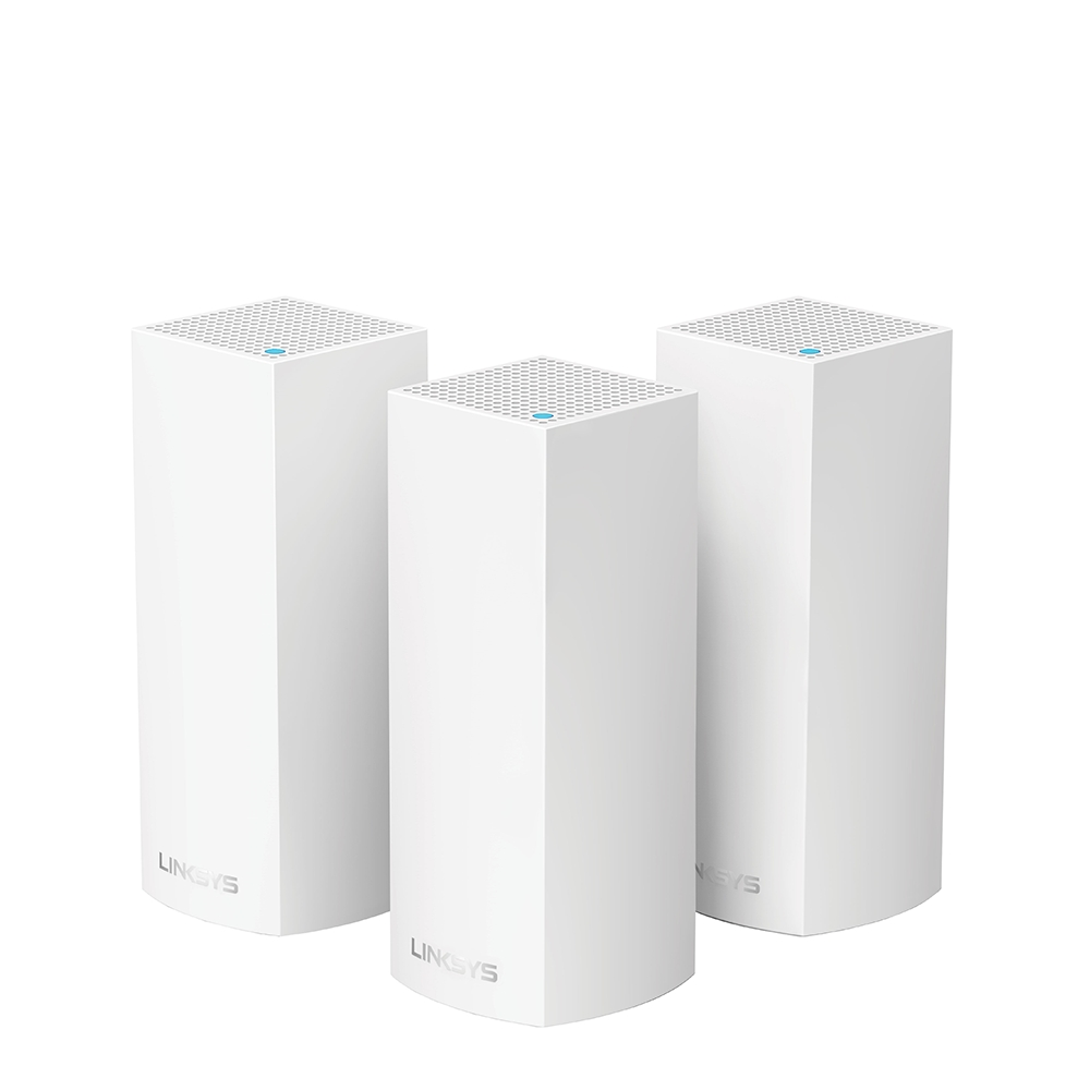 Linksys Velop Intelligent Mesh WiFi System, Tri-Band, 3-Pack White (AC6600) -$ HeroImage