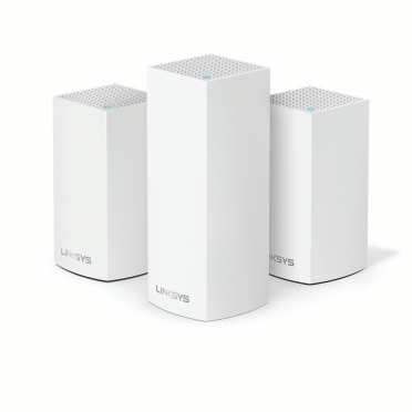 Linksys Velop Intelligent Mesh WiFi System, Tri-Band, 3-Pack White (AC4800) -$ HeroImage