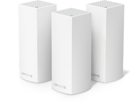 Three Velop Tri-Band nodes, two white and one white