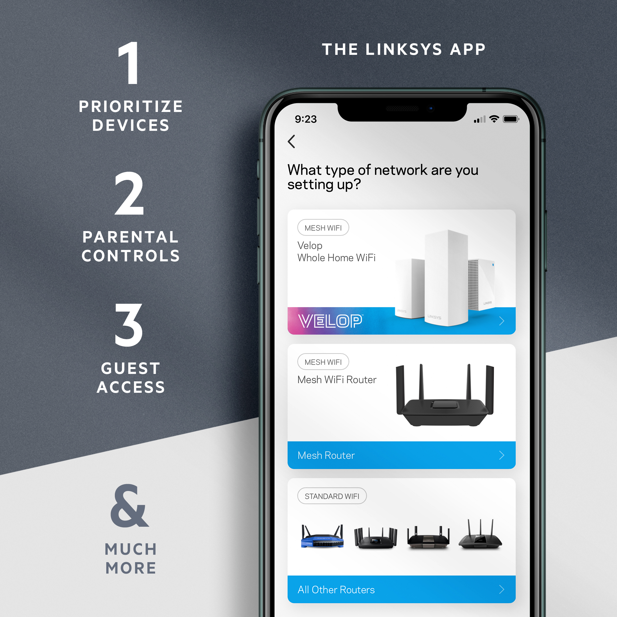 Linksys App Setup Screen