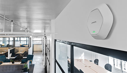 Linksys Access Point in an office