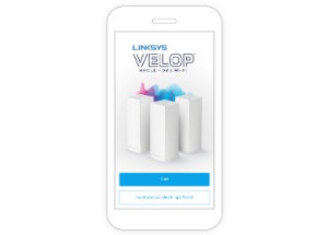 The Linksys App for Velop on a smartphone