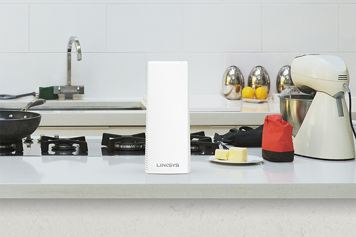 Velop node on kitchen counter