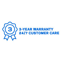 Three-year warranty and tech support guarantee