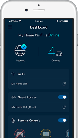 Linksys App Dashboard