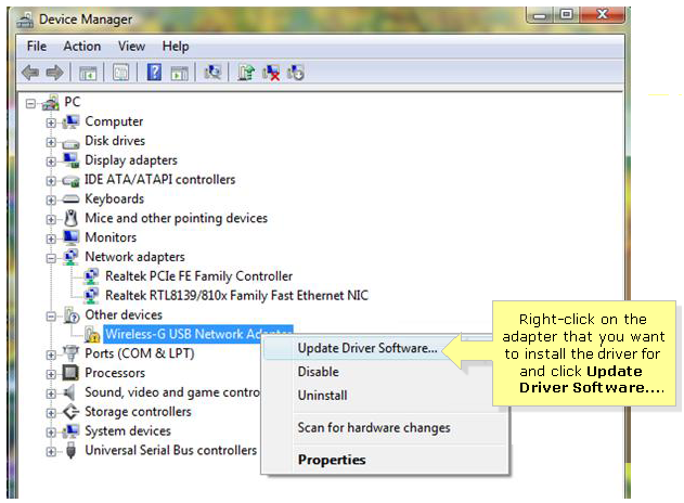 Download Wireless Network Port Devices Driver